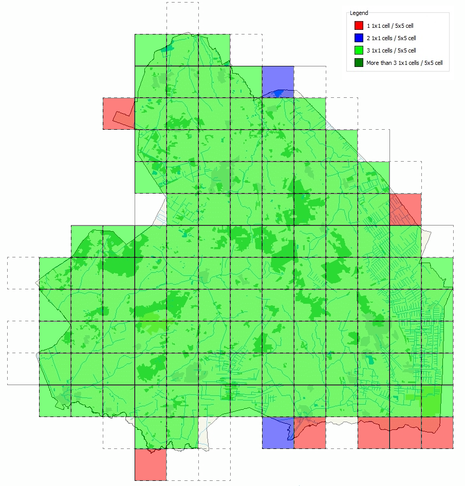 All 5x5 km squares in Drenthe